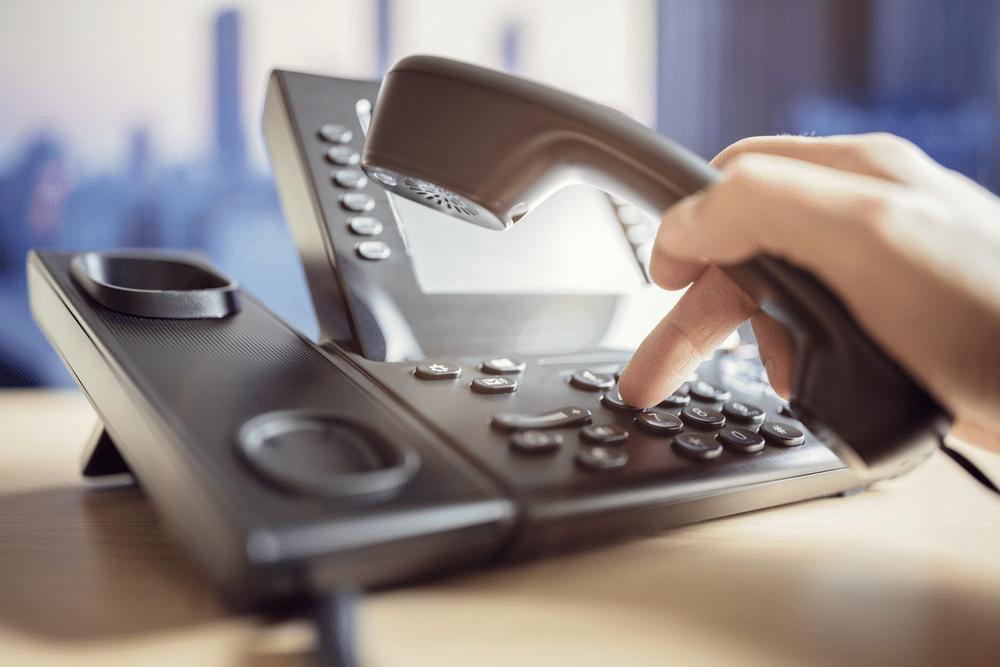 Suporte por telefone para atendimento