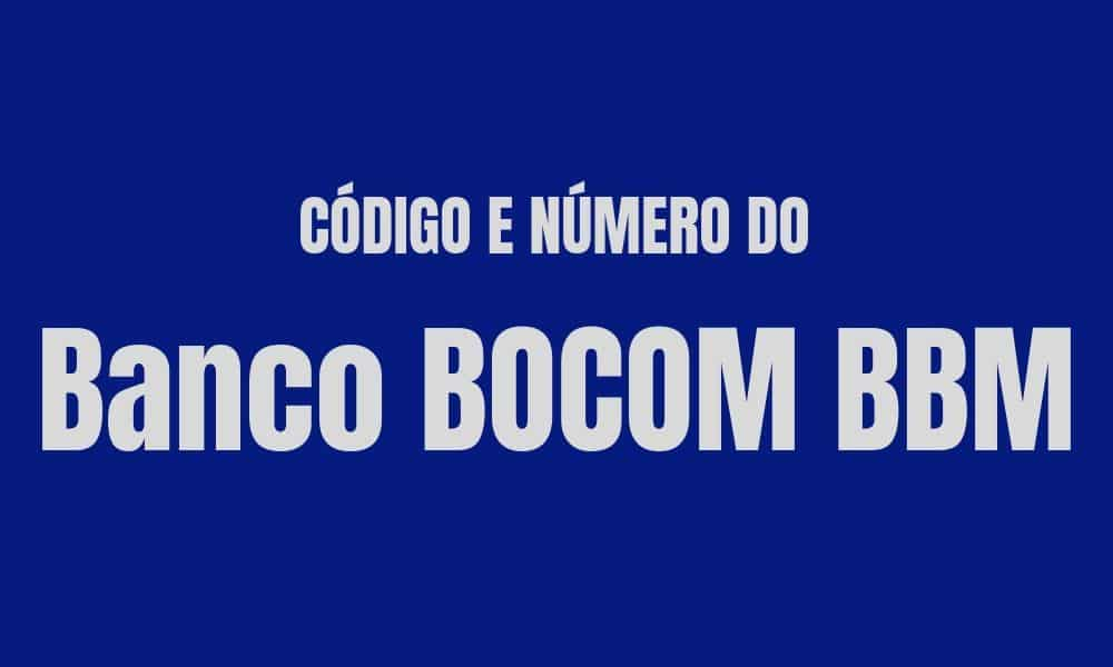 Número e código do Banco BOCOM