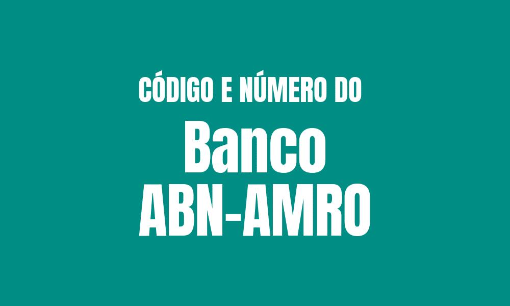 Número e código do ABN AMRO para TED e DOC