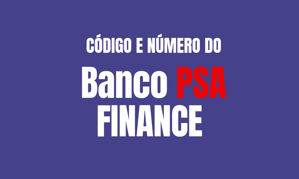 Número e código do Banco PSA Finance para TED e DOC