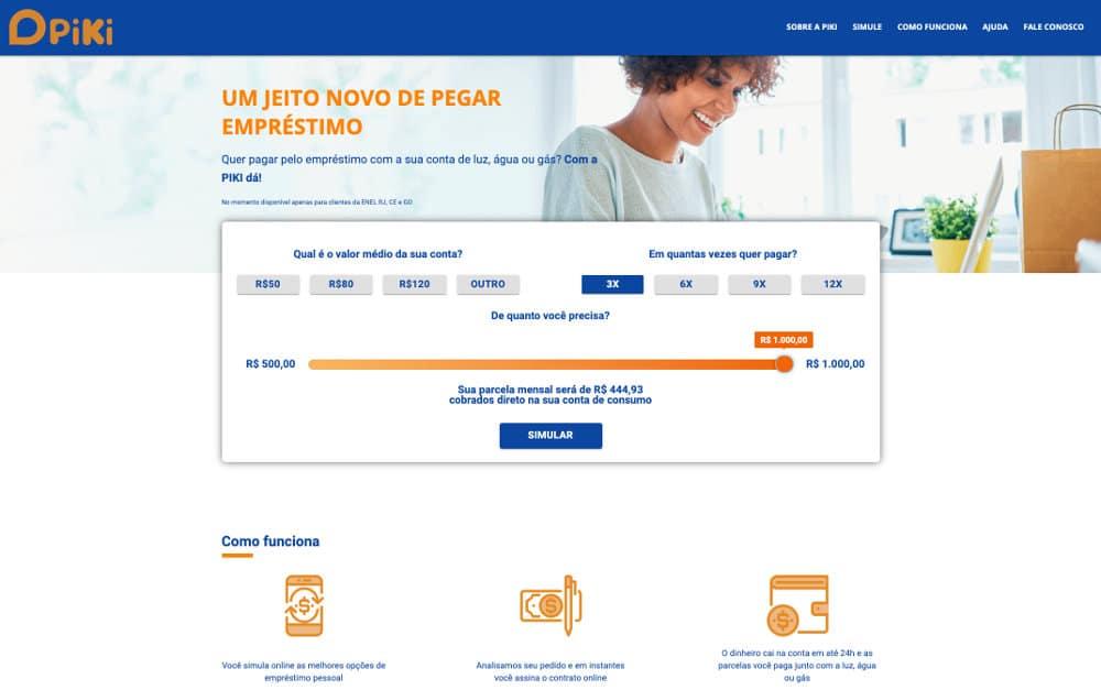 Empréstimo na conta de energia elétrica com EasyCredito, PIKI e Enel