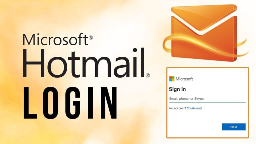 problemas de login do Hotmail e Outlook