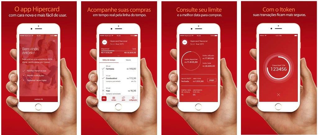 Aplicativo Hipercard para consulta do cartão de credito
