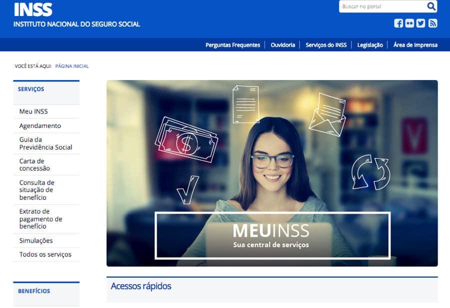 Extrato de empréstimo consignado INSS no Site Meu INSS