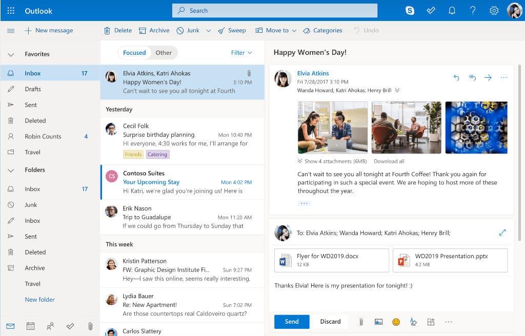 usuários do Outlook.com também poderão optar por experimentar