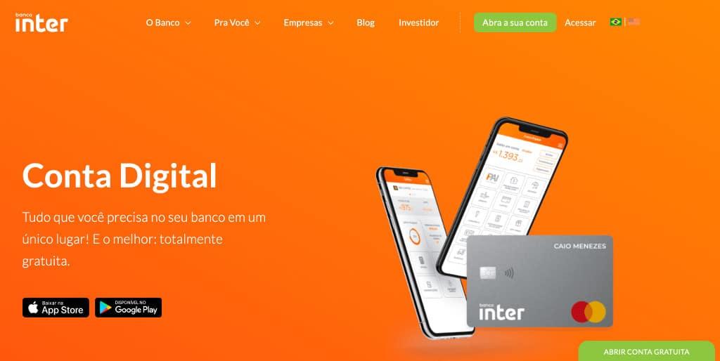 Conta digital Banco Intermedium: Banco Inter