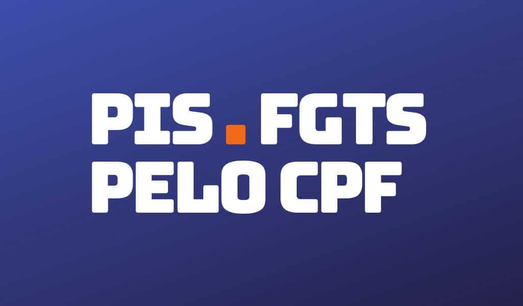 Como consultar PIS pelo CPF?