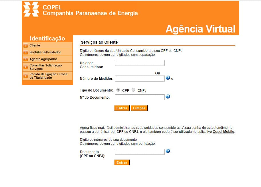 Agência Virtual Copel