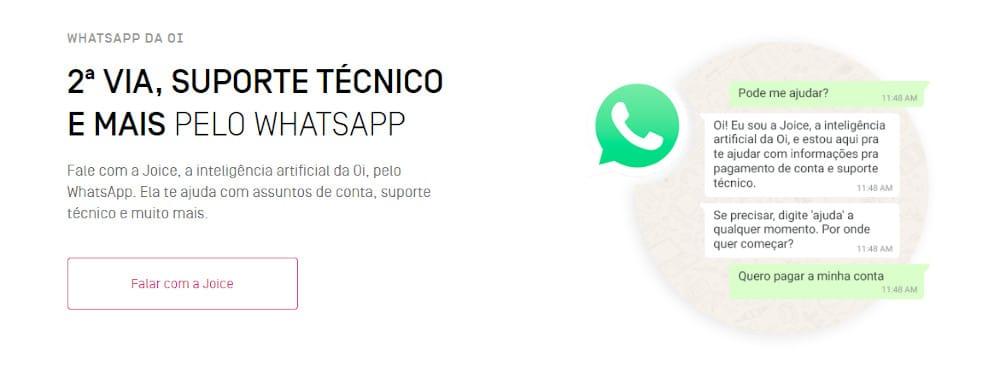 whatsapp da oi